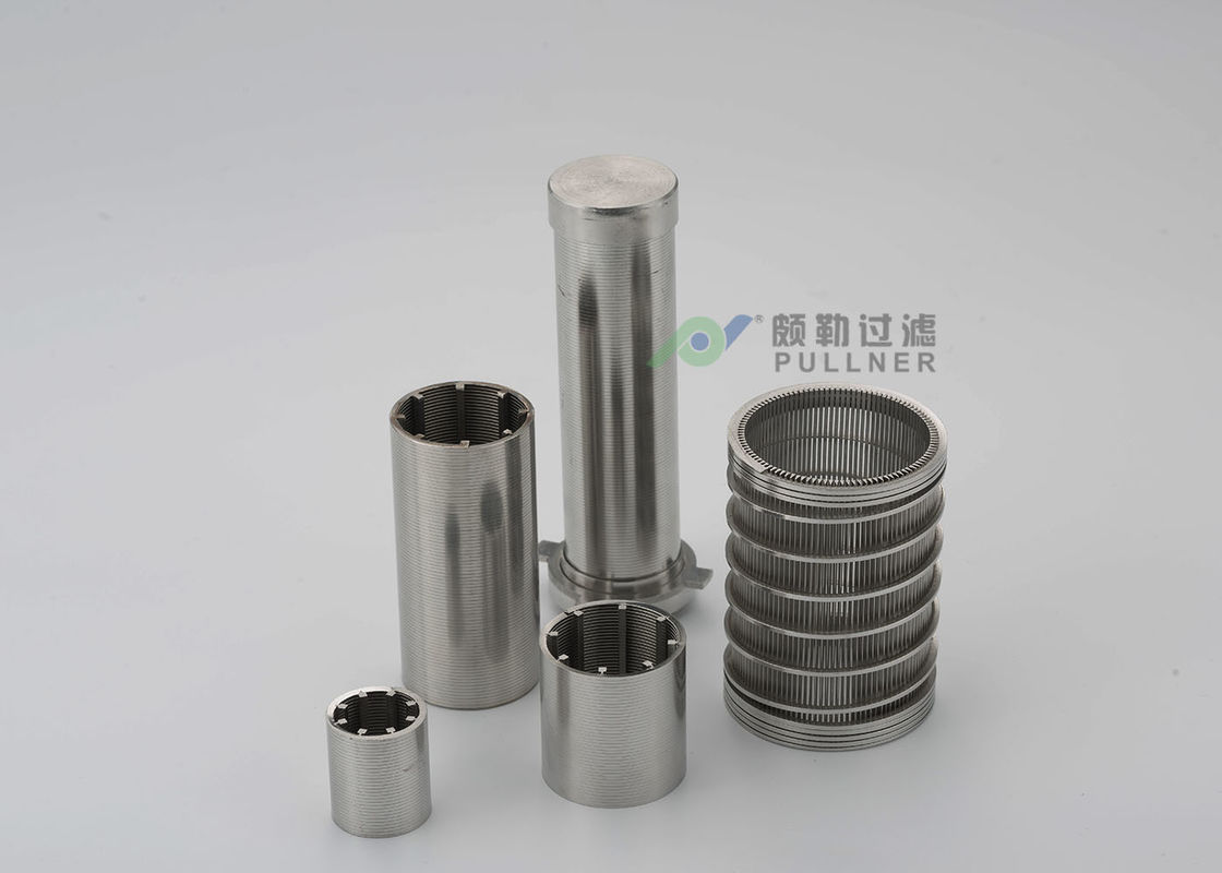 Wedge Wire Filter Backwashing Stainless Steel Water Filter , Stainless Steel Cartridge Filter